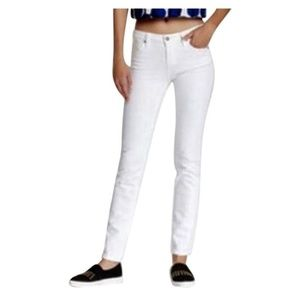 Kate Spade White Perry Street Straight Leg Jean 26